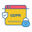 extension, file, gdpr, secure, security icon