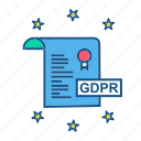 file, gdpr, page, secure, security icon