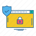 folder, gdpr, locked, secure, security icon