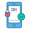 app, gdpr, secure, security icon