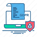 gdpr, laptop, secure, security