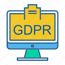 gdpr, lcd, secure, security icon