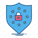 gdpr, locked, protection, secure, security icon