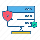 gdpr, network, secure, security icon