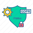 gdpr, protection, secure, security, setting icon