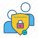 gdpr, protection, secure, security, user icon