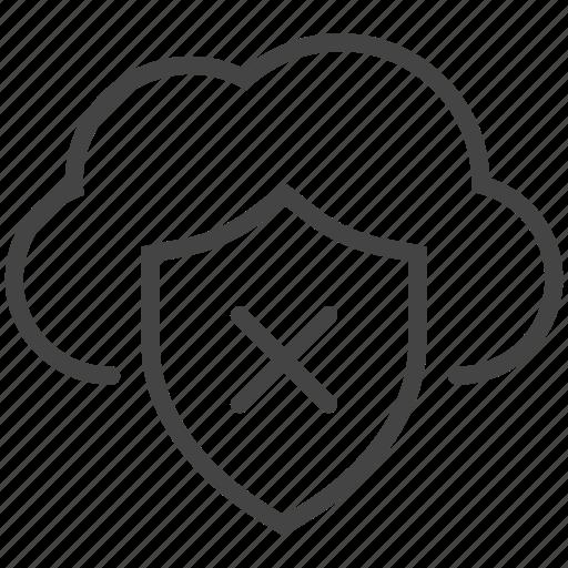 block, data protection, eye, hidden, hide, private, unlook icon