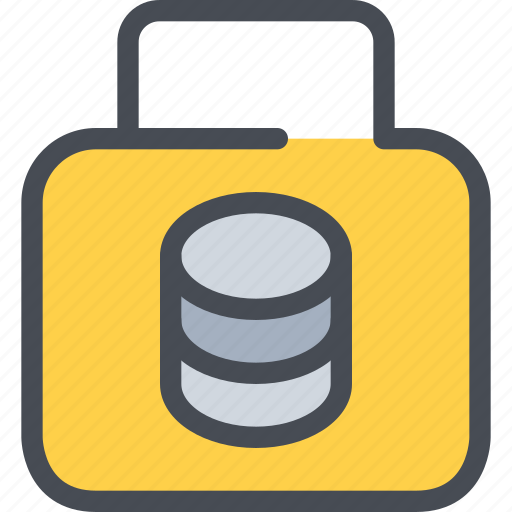 data, database, gdpr, padlock, secuirty, secure icon