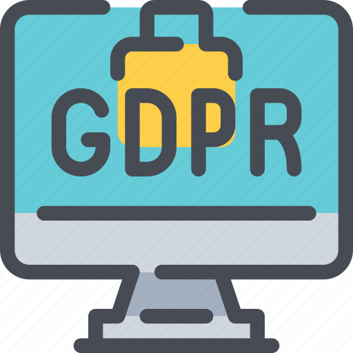 Computer, eu, gdpr, padlock, secure, security icon - Download on Iconfinder