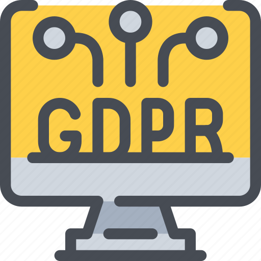 computer, eu, gdpr, network, secure, security icon