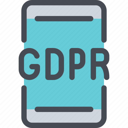 eu, gdpr, mobile, secure, security, smartphone icon