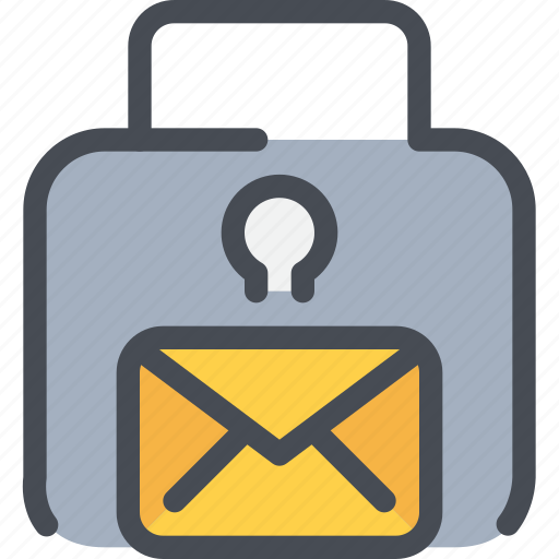 email, gdpr, letter, mail, padlock, secure, security icon