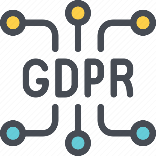 connect, eu, gdpr, network, secure, security icon