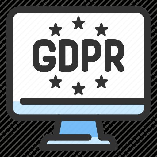 eu, gdpr, law, privacy icon