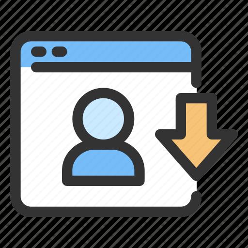 download, gdpr, personal data icon