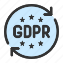 data, gdpr, law, privacy, protection icon