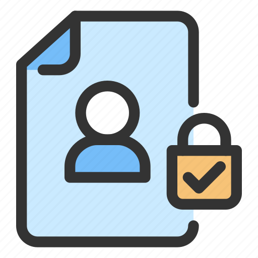 data protection, gdpr, personal data icon