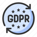 data, gdpr, law, protection, regulations icon