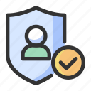 gdpr, personal data, privacy, protection, shield icon