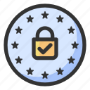gdpr, personal data, privacy, regulations icon
