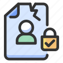 breach, gdpr, personal data icon