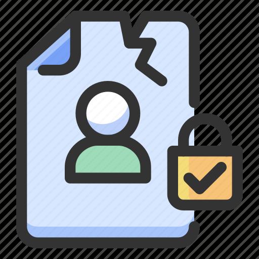 breach, gdpr, personal data icon