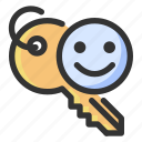 access, encryption, gdpr, key icon