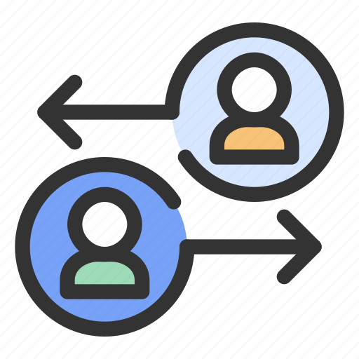 exchange, gdpr, personal data, sharing icon