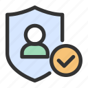 gdpr, personal data, protection, shield icon