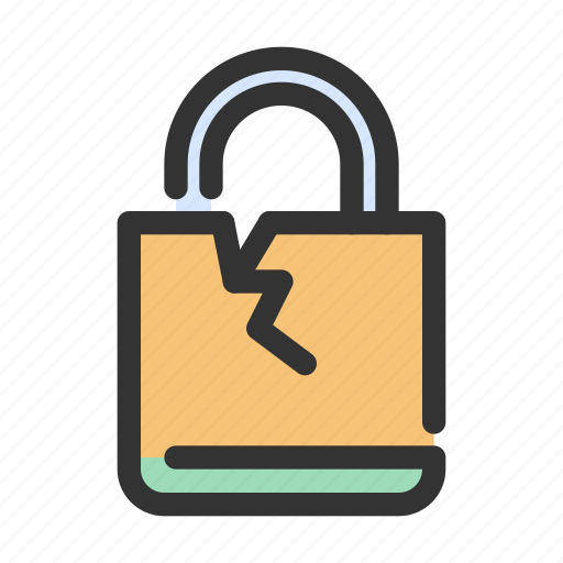 breach, gdpr, lock, safety icon