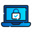eu, gdpr, general data protection regulation, laptop, lock, privacy, website icon