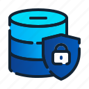 eu, gdpr, general data protection regulation, lock data, security, server, storage icon