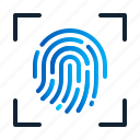 biometric, eu, fingerprint, gdpr, general data protection regulation, scan, security icon