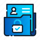 eu, file, folder, gdpr, general data protection regulation, lock, personal data icon