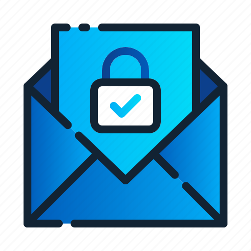 eu, gdpr, general data protection regulation, lock, mail, message, security icon