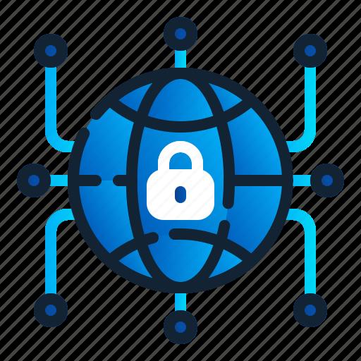 eu, gdpr, general data protection regulation, globe, internet, network, worldwide icon