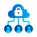 cloud, connection, eu, gdpr, general data protection regulation, internet, lock icon
