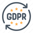 gdpr, law, privacy, protection, regulation icon