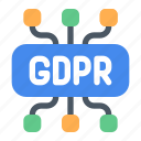data, gdpr, protection icon