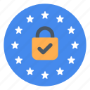 gdpr, lock, protection icon