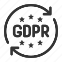 eu, gdpr, law, regulation icon