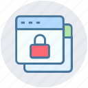 browser, gdpr, internet, lock, security, webpages, websites icon