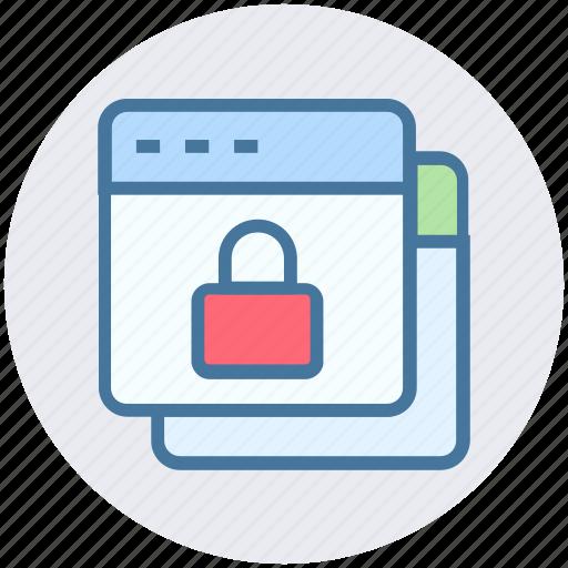 Browser, gdpr, internet, lock, security, webpages, websites icon - Download on Iconfinder