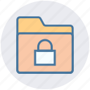 document, folder, gdpr, lock, safe folder, security icon