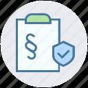 accept, checkmark, clipboard, document, list, secure, shield icon