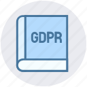 book, document, gdpr, law, library, read, story icon