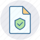 accept, document, page, protection, security, sheet, shield
