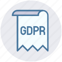consent, form, gdpr, general data protection regulation, paper, policies icon