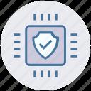 shield, accept, cpu, hardware, security, microchip, processor