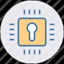 lock, safe, cpu, hardware, security, microchip, processor